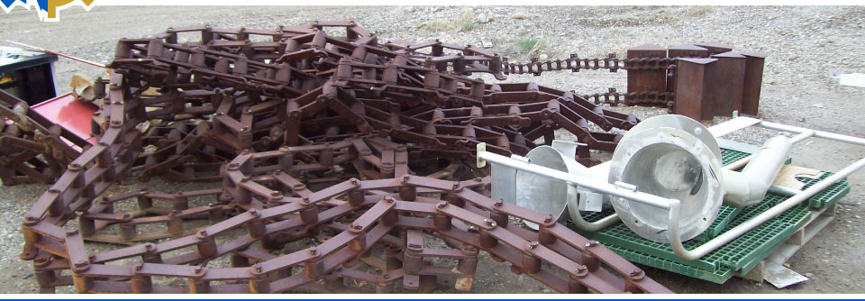 Scrap metal recycling pile in Edmonton